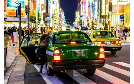 深夜のタクシー帰り