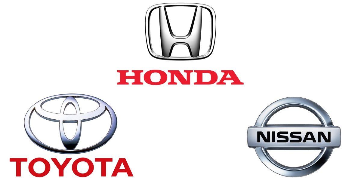トヨタ、日産、Hondaロゴ